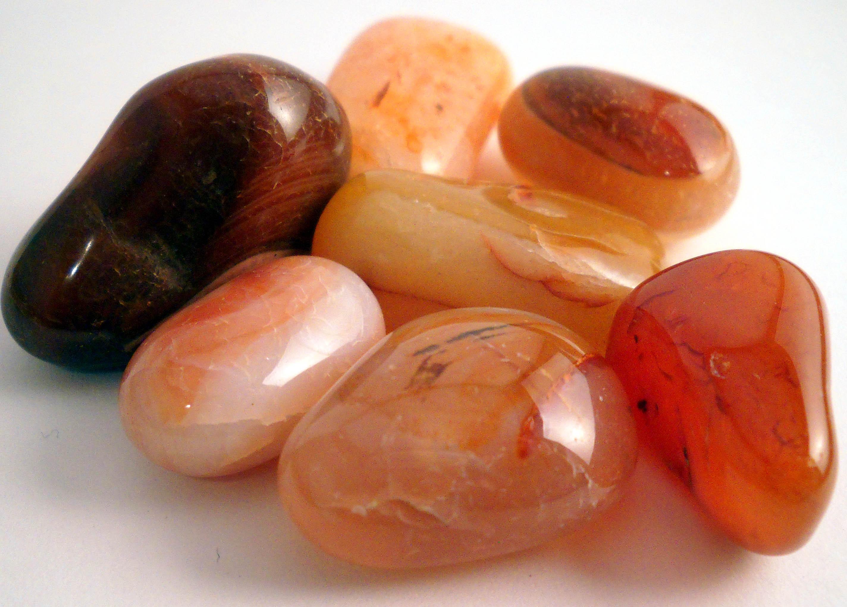 Carnelian agate pile of stones