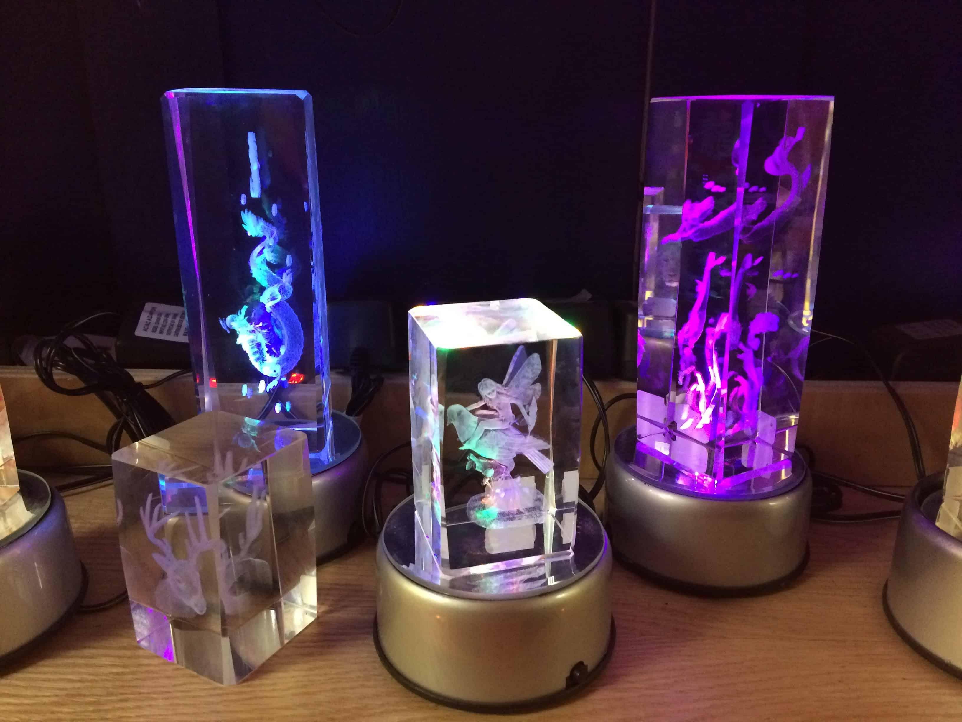 Laser Engraved Glass Cubes
