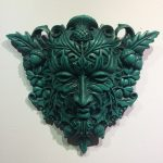 12″ Green Man Plaque