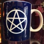 Navy Blue Pentacle Mug