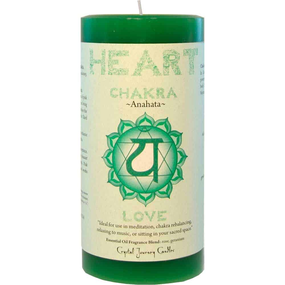 Crystal Journey Heart Chakra 3 X6 Pillar Candle