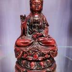 """Kuan Yin 6"""" Red Statue"""