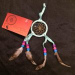 2″ Handmade Beaded Dreamcatcher – Ice Blue