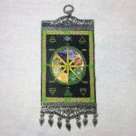 Pagan Wheel of the Year Wall Hanging Carpet 10″