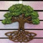 Celtic Knot Tree Plaque 13""