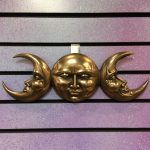 15″ Triple Moon Goddess Plaque