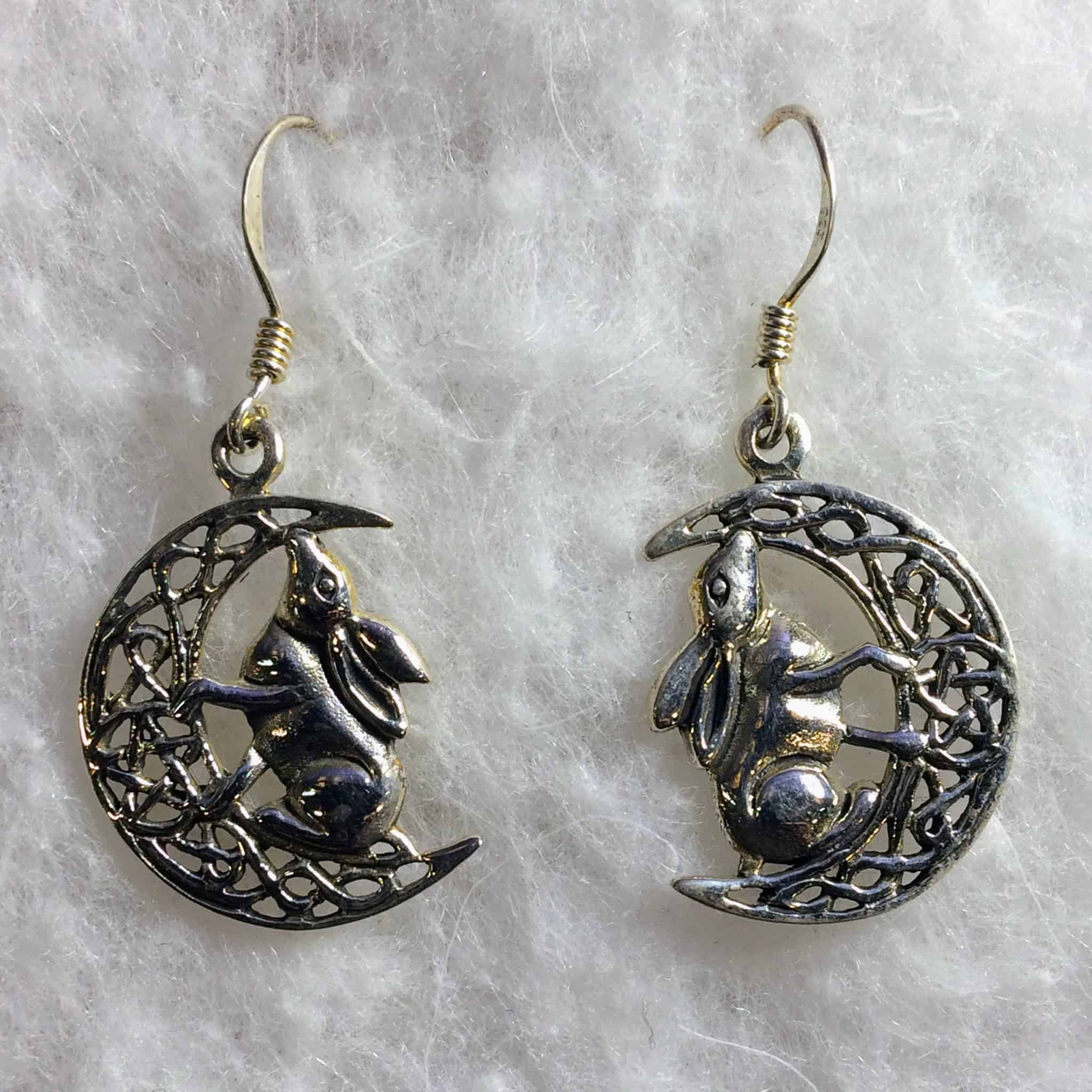 crescent earrings moon store