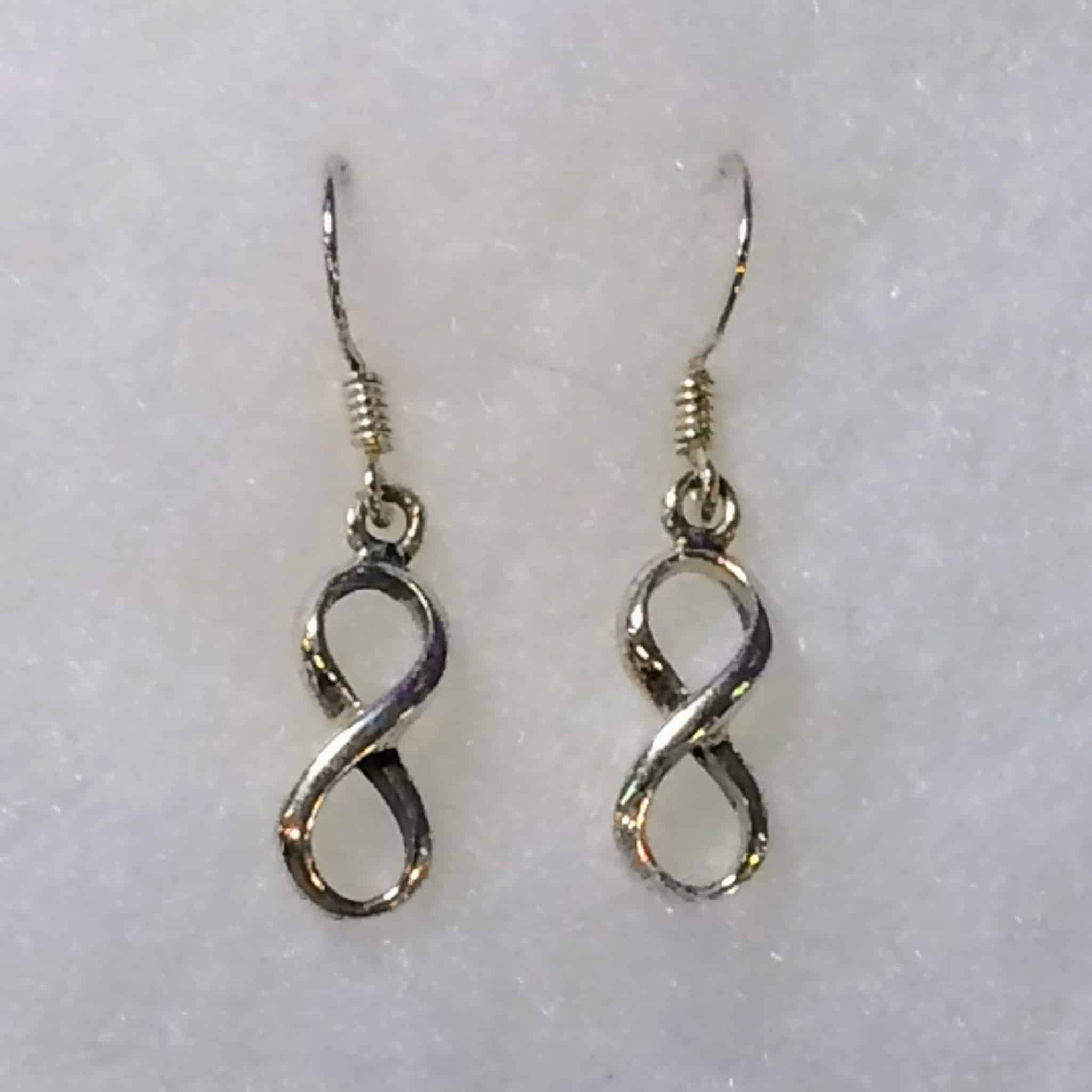 behind meaning hoop slide plain with at hook feature the sleek loop sterling delicate infinity end an products aeravida silver pe a thread dangle earrings details style