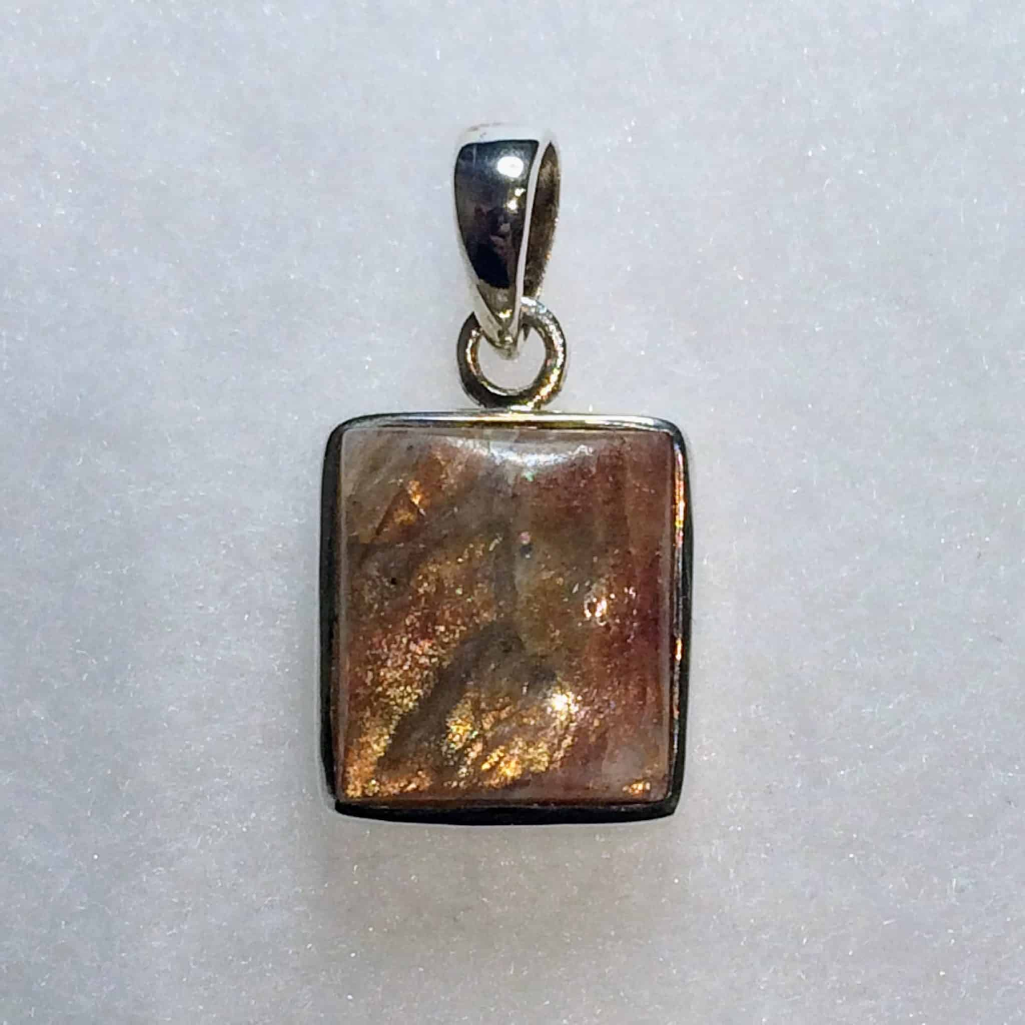 il necklace sunstone pendant listing wire fullxfull wrapped