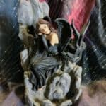 "7.5"" Dark Angel with Dragon Backflow Incense Burner"