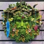 "12"" Colorful Green Man with Free-Moving Details"