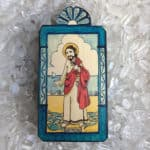 "6.5"" St. Peter/San Pedro Wooden Plaque"