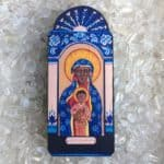 7.5″ Black Madonna Wooden Plaque