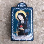 "5"" St. Brigid of Kildare Wooden Plaque"